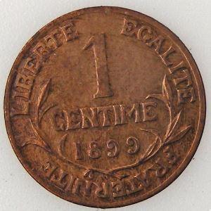 France, Dupuis, 1 Centime 1899, TTB, KM# 840