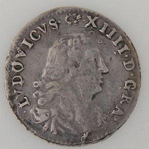 France, Louis XIV, 4 Sols dits des Traitants 1675 A, Gad: 103, TB