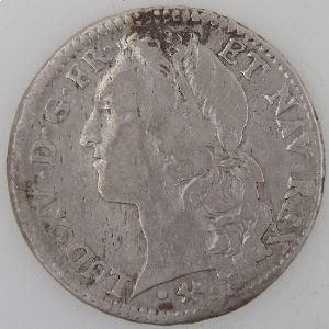 France, Louis XV, 1/2 Ecu au Bandeau 1761 L, Gad: 314, TB