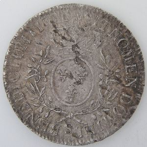 France, Louis XV, Ecu aux branches d'Olivier 1726 S, Gad: 321, TB+/TTB+