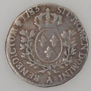 France, Louis XVI,  1/20 Ecu 1783 A, Gad: 352, TB