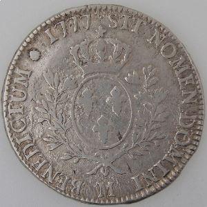 France, Louis XVI,  Ecu 1777 M, Gad: 356, TB+