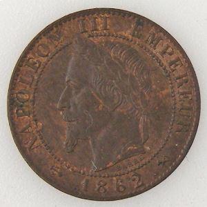 France, Napoléon III, 1 Centime 1862 K, TTB/TTB+, KM# 795.3