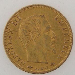 France, Napoléon III, 5 Francs 1859 A, TTB, KM#787.1