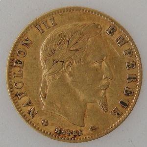 France, Napoléon III, 5 Francs 1862 BB, TB+, KM#803.2