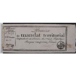 France, Promesse de mandat territorial, Bon de 25 Francs, Série:36, TB+