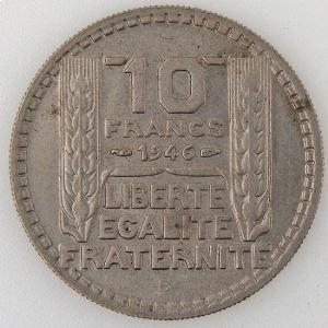 France, Turin, 10 Francs 1946 B, TTB+, KM#908.2