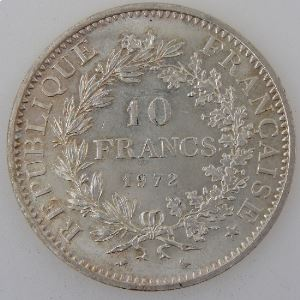 France , 10 Francs 1972, SUP, KM#932