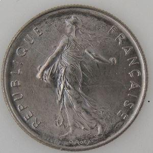 France , 5 Francs 1989, SUP+, KM#926a.1
