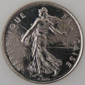 France , 5 Francs 2000, SPL++, KM#926a.1