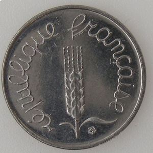 France , 1 Centime 1973, SUP, KM#928 .