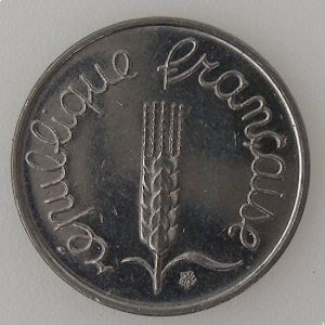 France, 1 Centime 1973 , SUP, KM#928 .