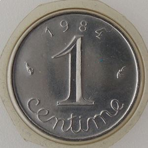 France, 1 Centime 1984, FDC, KM# 928
