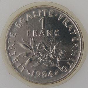 France, 1 Franc 1984, FDC, KM# 925.1