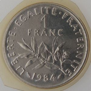 France, 1 Franc 1984, FDC , KM# 925.1