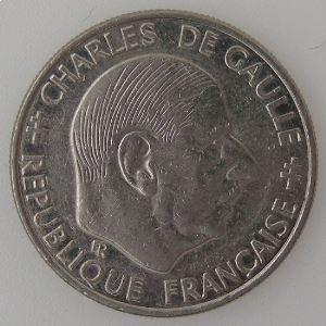 France, 1 Franc 1988, TTB, KM#963 var