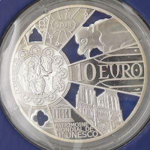 France, 10 Euro 2013 BE Unesco, 850 ans Notre Dame de Paris