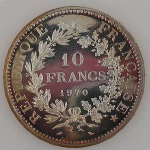 France, 10 Francs 1970, SPL++ , KM#932