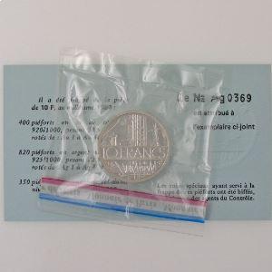 France, 10 Francs 1980 Piéfort Argent, FDC, KM# P678
