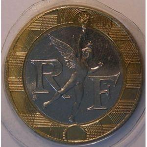 France, 10 Francs 1998 SPL+, KM# 964.1, Génie de la Bastille