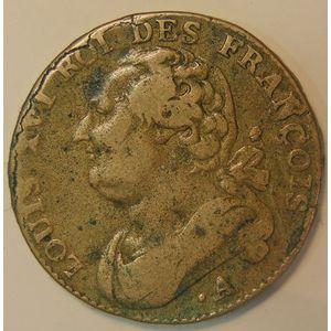 France, 12 Deniers 1791 .A, TB/TB+, Gad:15