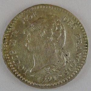 France, 15 Sols 1791 I, TTB, KM# 604.5