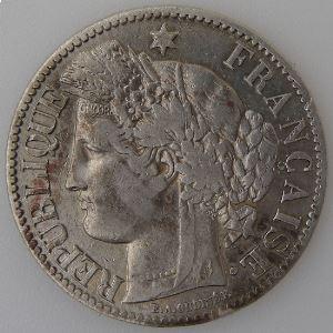 France, 2 Francs 1873 A, TB+, KM#817.1