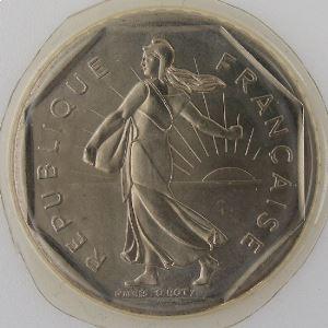 France, 2 Francs 1986, Semeuse, FDC, KM#542.1