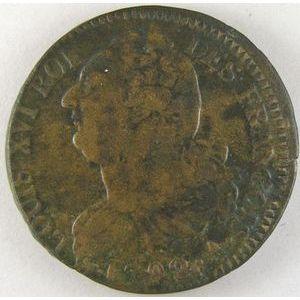 France, 2 Sols 1792 A, TB+, Gad:25