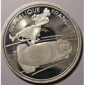 France, Bobsleigh, 100 Francs 1990 SPL, KM# 981