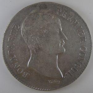 France, Bonaparte 1er Consul, 5 Francs l'An 12 L, TTB, KM# 659.7