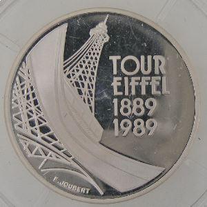 France, Centenaire de la Tour Eiffel, 5 Francs 1989 BE, SPL, Gad: 772
