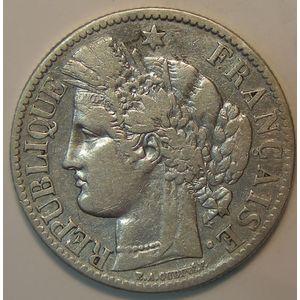 France, Cérès , 2 Francs 1895 A, TB, Gad: 530a