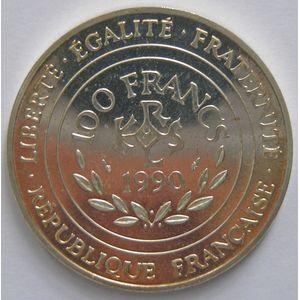 France, Charlemagne, 100 Francs 1990 SPL, KM# 982