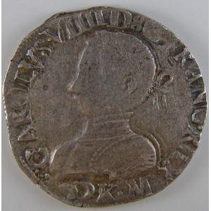 France, Charles IX, Teston 1566 K, TTB, Duplessy: 1063
