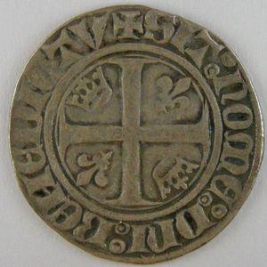 France, Charles VI, Blanc Guénar, Dup: 377, TTB