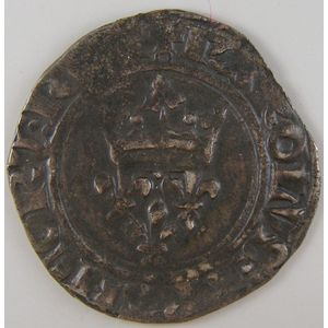 France, Charles VI, Gros dit: Florette, TB+, Duplessy: 387