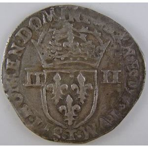 France, Charles X, 1/4 Ecu 1593 T, TB+, Duplessy: 1177