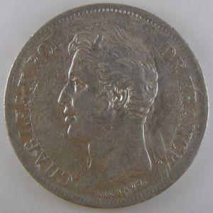 France, Charles X, 5 Francs 1828 W, TTB, KM# 728.13