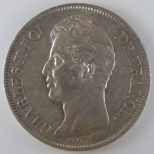 France, Charles X, 5 Francs 1829 A, TTB/TTB+, KM# 728.1