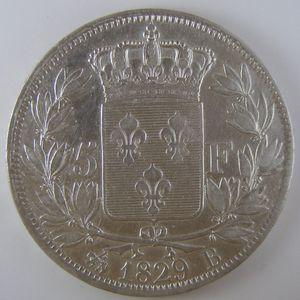 France, Charles X, 5 Francs 1829 B, TTB, KM# 728.2