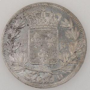 France, Charles X, 5 Francs 1829 D, TTB+/SUP, KM# 728.4