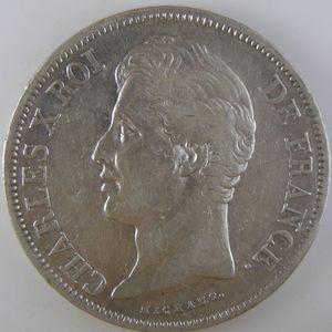 France, Charles X, 5 Francs 1829 H, TTB, KM# 728.5