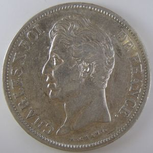 France, Charles X, 5 Francs 1829 W, TTB/TTB+, KM# 728.13