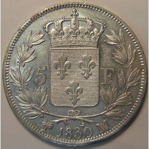France, Charles X, 5 Francs 1830 MA, KM#728.10, TTB+
