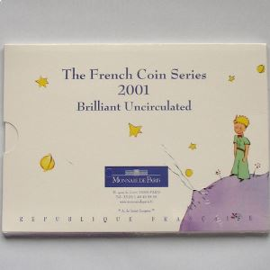France, Coffret Brillant Universel 2001 Petit Prince