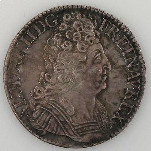 France, Ecu aux 3 Couronnes 1713 W, TTB+, Gad: 229