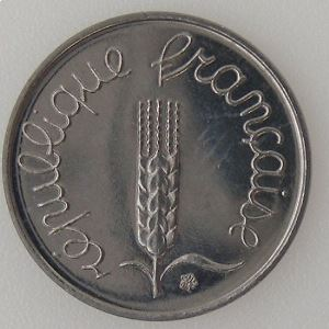 France, Epi, 1 Centime 1980 SPL, KM# 928