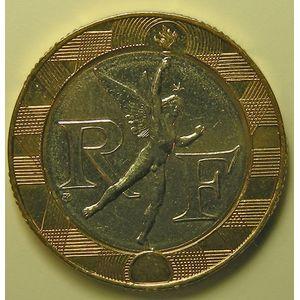France, Génie de la Bastille 10 Francs 1999 SPL+, KM# 964.1
