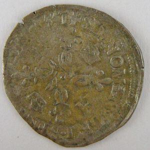 France, Henri II, Douzain aux croissants 1551 A, TB+, Dup:997